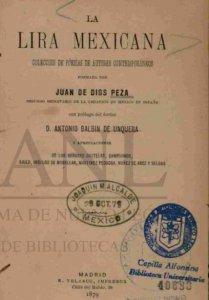 La lira mexicana : colección de poesías de autores contemporáneos