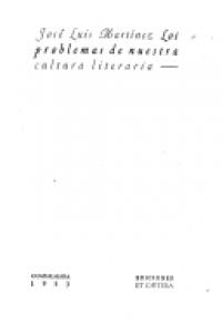Los problemas de nuestra cultura literaria