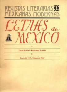 Letras de México, I : enero de 1937- diciembre de 1938