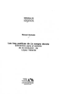 Las tres poéticas de La sangre devota: elementos para el estudio de la evolución estilística de Ramón López Velarde