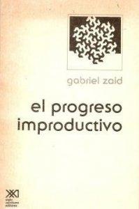El progreso improductivo
