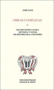 Obras completas IV. De Descartes a Marx. Estudios y notas de historia de la filosofía
