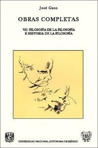 Obras completas VII. Filosofía de la filosofía e historia de la filosofía