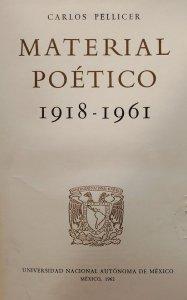 Material poético 1918-1961