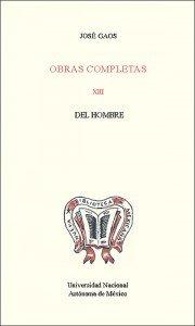Obras completas XIII. Del hombre