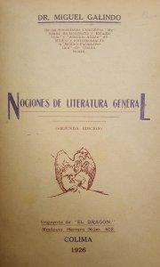 Nociones de literatura general