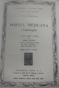 Poesía Mejicana : antología