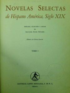 Novelas selectas de Hispano América, siglo XIX