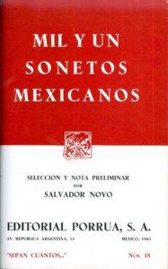 Mil y un sonetos mexicanos
