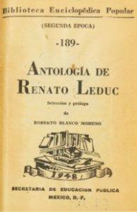 Antología de Renato Leduc