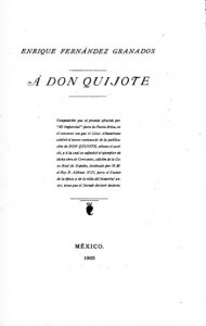 A Don Quijote : poema