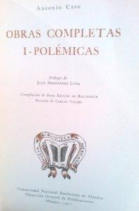 Obras completas I. Polémicas