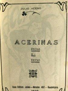 Acerinas : prosa y verso