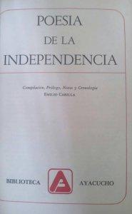 Poesía de la independencia