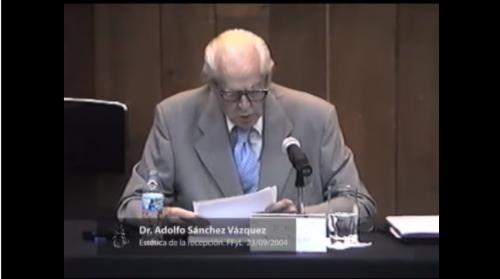 Adolfo Sánchez Vázquez. 1. Introducción a la estética de la recepción 23/09/2004