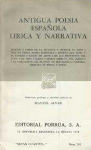 Antigua poesía española lírica y narrativa