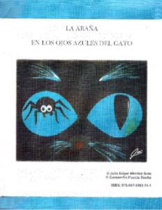 La araña en los ojos azules del gato