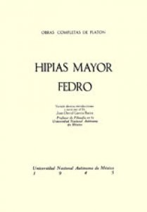 Hipias mayor. Fedro