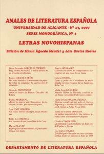 Anales de literatura española No. 13. letras novohispanas
