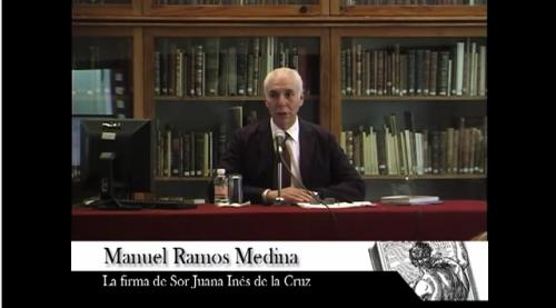 Conferencia: La firma de Sor Juana Inés de la Cruz