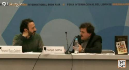 Presentación ''La doble vida de Jesús'' de Enrique Serna en FIL Guadalajara