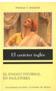 El carácter inglés : el ensayo informal en Inglaterra