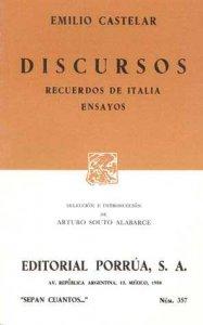 Discursos ; Recuerdos de Italia ; Ensayos