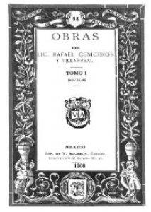 Obras del Lic. Rafael Ceniceros y Villarreal. Tomo I, novelas