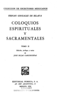 Coloquios espirituales y sacramentales II