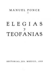 Elegías y teofanías