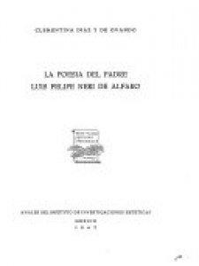 La poesía del padre Luis Felipe Neri de Alfaro
