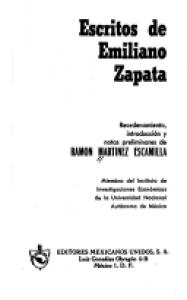 Escritos de Emiliano Zapata