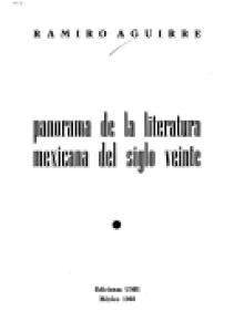 Panorama de la literatura mexicana del siglo veinte