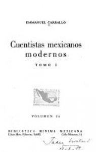 Cuentistas mexicanos modernos