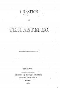 Cuestión de Tehuantepec
