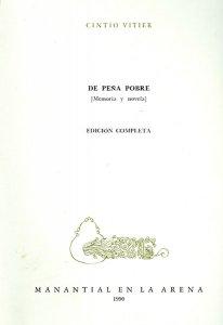 De peña pobre: (memoria y novela)