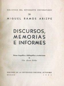 Discursos, memorias e informes