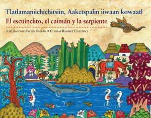 Tlatlamaniichichitsiin, Aaketspalin iiwaan kowaatl = El escuinclito, el caimán y la serpiente