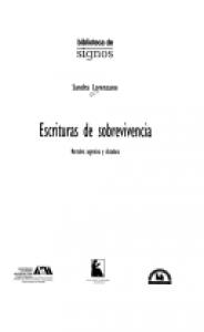 Escrituras de sobrevivencia : narrativa argentina y dictadura