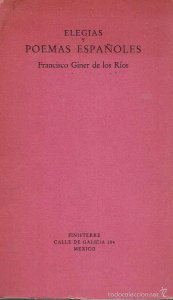Elegías y poemas españoles