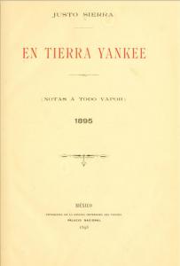 En tierra yankee. Notas a todo vapor, 1895