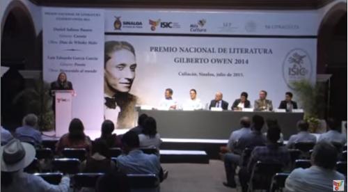 Entregan el Premio Nacional de Literatura Gilberto Owen 2014. Parte 2/2