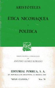Ética nicomaquea ; Política