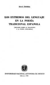 Los extremos del lenguaje en la poesía tradicional española