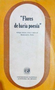 Flores de baria poesía : cancionero novohispano del siglo XVI