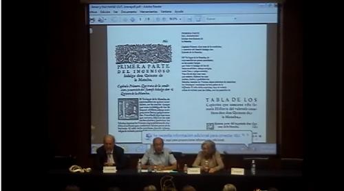 Francisco Rico. La edición de textos en la edad de la imprenta manual. 05/09/2013