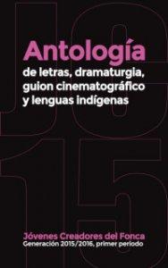 Antología de letras, dramaturgia, guión cinematográfico y lenguas indígenas : generación 2015-2016, primer periodo