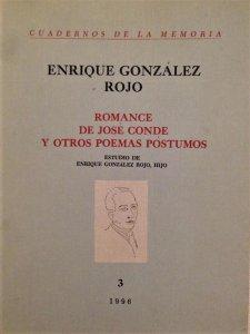 Romance de José Conde y otros poemas póstumos