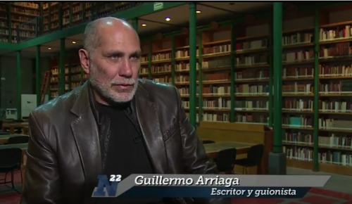Guillermo Arriaga presenta su libro <i>El salvaje</i>
