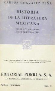 Historia de la literatura mexicana : desde los orígenes hasta nuestros días